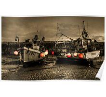 Fishing Boats at Lyme Regis Poster