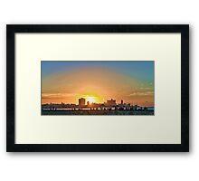 The Malecón, Havana, Cuba - Sunset HDR Framed Print