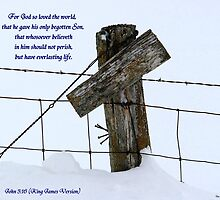 A Farmer's Cross ! 2 of 2 / with writing. by Jan Siemucha