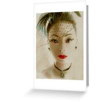 Victorian Geisha  Greeting Card