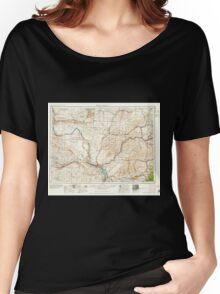 USGS Topo Map Washington Walla Walla 244505 1958 250000 Women's Relaxed Fit T-Shirt