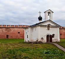 The Church of St Andrew Stratelates in Veliky Novgorod, Russia by Andrey Vostrikov