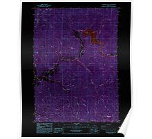 USGS Topo Map Oregon Starvout Creek 281628 1986 24000 Inverted Poster