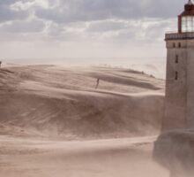 Sandstorm at the lighthouse Sticker