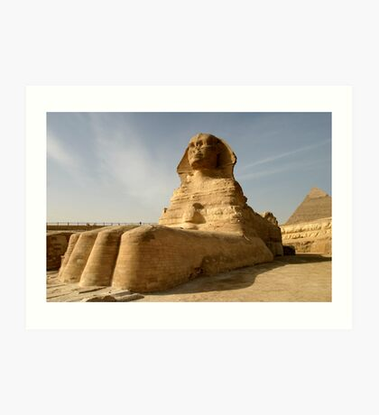At the Paws of the Sphinx Fine Art Print Art Print