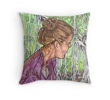 Virginia and the Banyan tree Throw Pillow