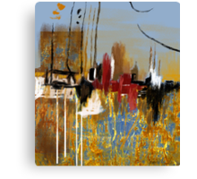 """Far Away City""  Canvas Print"