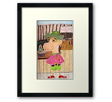 The Too Cool Sheriff Of pinkyjain Town Framed Print