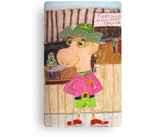 The Too Cool Sheriff Of pinkyjain Town Canvas Print