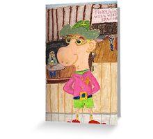 The Too Cool Sheriff Of pinkyjain Town Greeting Card