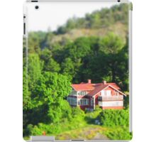 Small rural house in the woods iPad Case/Skin