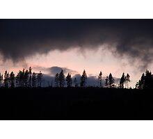 Pink Dartmoor Sky Photographic Print