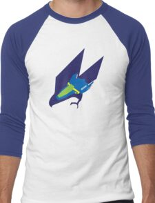 Blue Falcon Emblem Men's Baseball ¾ T-Shirt
