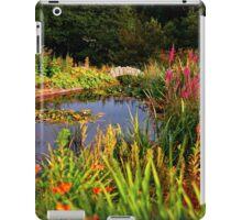 Delgatie Castle Pond (near Turriff, in Aberdeenshire, Scotland) iPad Case/Skin