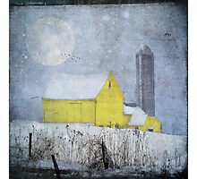 Old Yellow Barn Photographic Print