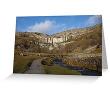 Malham Cove on a January Day Greeting Card