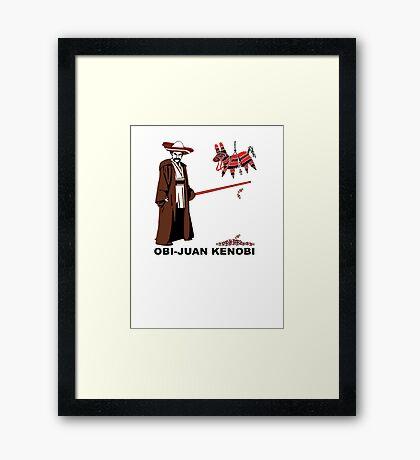 Obi-Juan Kenobi Framed Print