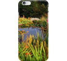 Delgatie Castle Pond (near Turriff, in Aberdeenshire, Scotland) iPhone Case/Skin