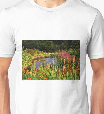 Delgatie Castle Pond (near Turriff, in Aberdeenshire, Scotland) Unisex T-Shirt