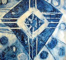 Ameba  Four Indigo Blue by Marti   Schmidt