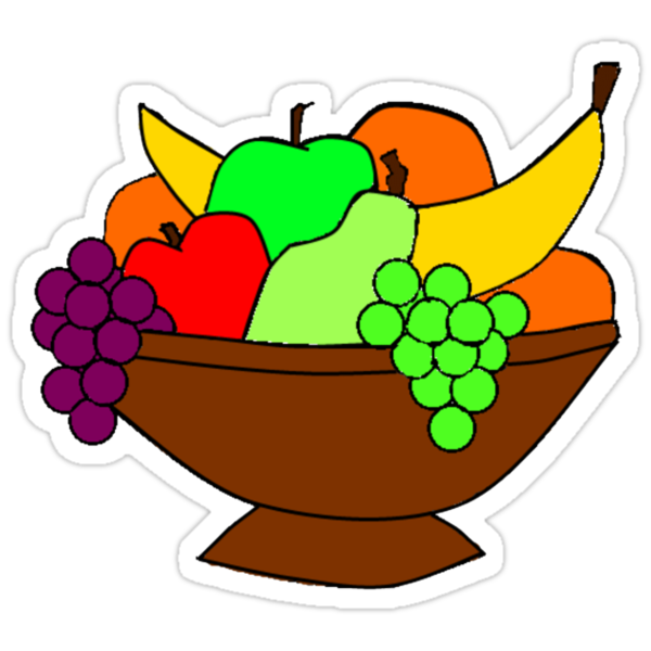 Simple Fruit Bowl Stickers By Theamorousclam Redbubble