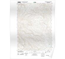 USGS Topo Map Oregon Clover Creek Ranch 20110831 TM Poster