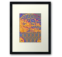 Wrought iron Gate Framed Print