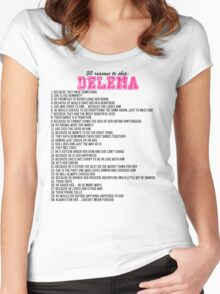 30 reasons to ship Delena Women's Fitted Scoop T-Shirt