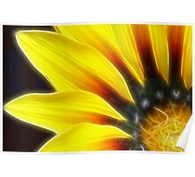 Glowing yellow flower Poster