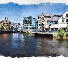 River Garavogue watercolour by PhotosByHealy