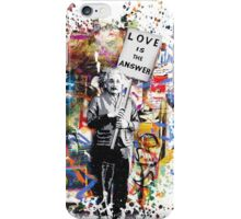 Albert Einstein Genius Banksy Inspiration Graffiti Street Art Mashup  iPhone Case/Skin