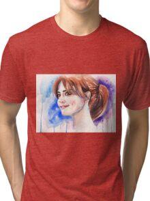 Clara Oswald. Jenna Coleman Tri-blend T-Shirt