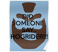 Hoggy Rider! Poster
