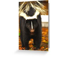 Angry skunk Greeting Card