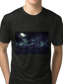 Moon over Field 2 Tri-blend T-Shirt