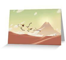 Gliding Greeting Card