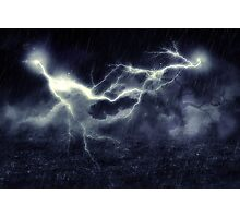 Storm over Field Photographic Print