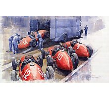 Team Ferrari 500 F2 1952 French GP Photographic Print