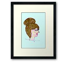 Scribbler Portrait Framed Print