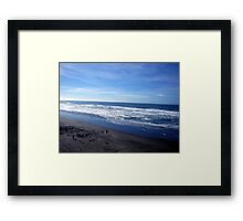 another view of ocean beach Framed Print