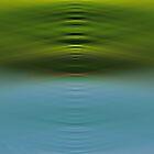Lake Horizon Abstract by leslie wood