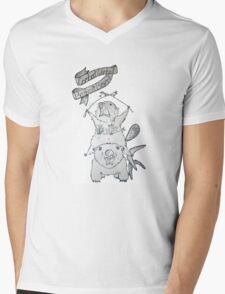 Combat Wombat & Barbaric Beaver Mens V-Neck T-Shirt
