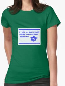 Zionist conspiracy Womens Fitted T-Shirt