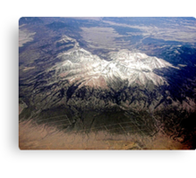 The last mountain range on the east side of the Rockies. Canvas Print