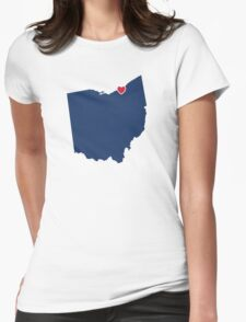 Home Sweet Cleveland Womens Fitted T-Shirt
