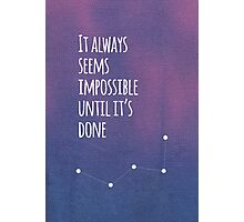 Purple Life Quote Photographic Print