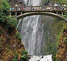 Multnomah Falls by Jeff Clark