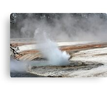 YELLOWSTONE Hot Springs, Wyoming USA Canvas Print