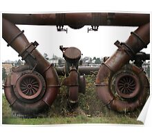 Gasworks Steampunk Art Poster