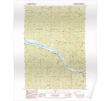 USGS Topo Map Oregon Deer Head Point 279599 1985 24000 Poster